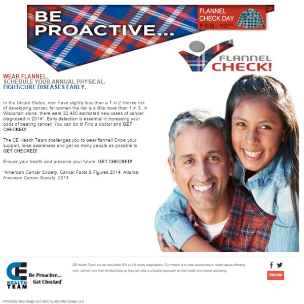 Flannel Check - Waupaca WI - Save Lives, Wear Flannel, Get Checked