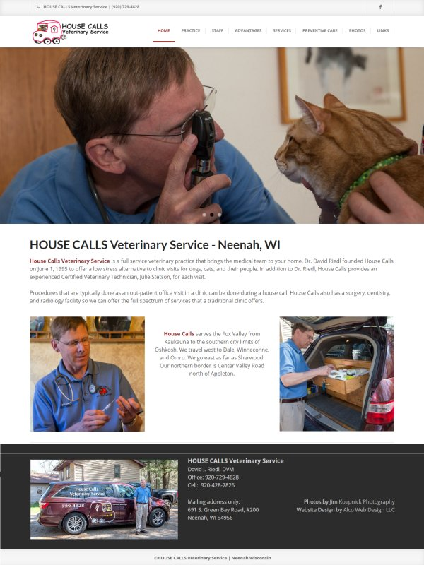 HOUSE CALLS Veterinary Service - Neenah, WI